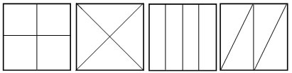 ComposingShapesText on Shapes Divided Into Halves